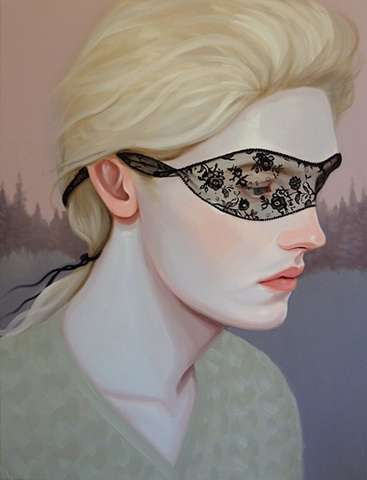 Sultry Lace-Masked Portraits