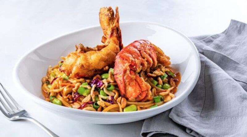 Fried Lobster-Topped Noodles