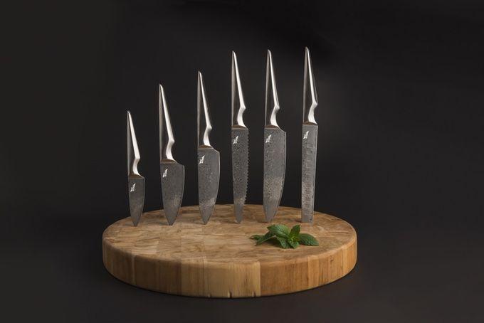 Dark Floral Knives