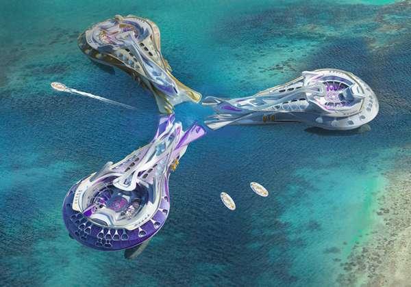 Floating Futuristic Hotel Designs