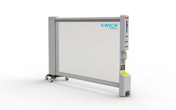 Retractable clinic partitions kwickscreen for Retractable room divider residential
