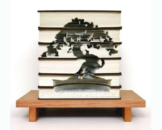 Scalpel-Sculpted Book Stacks