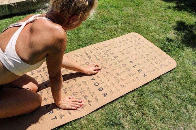 Practice-Guiding Yoga Mats