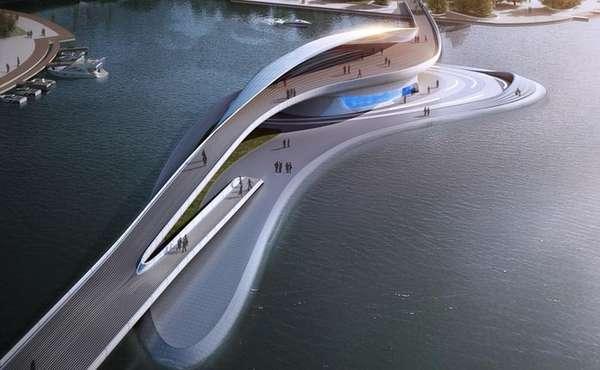 Modern Chinese Water Walkways