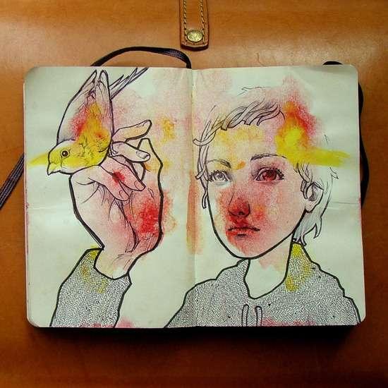 Splotchy Mirrored Illustrations