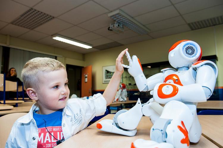 Language-Teaching Robots