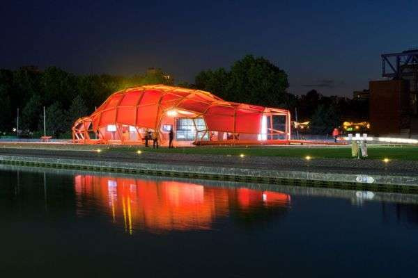 Orange Metallic Pavilions