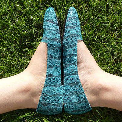 DIY Delicate Lace Flats