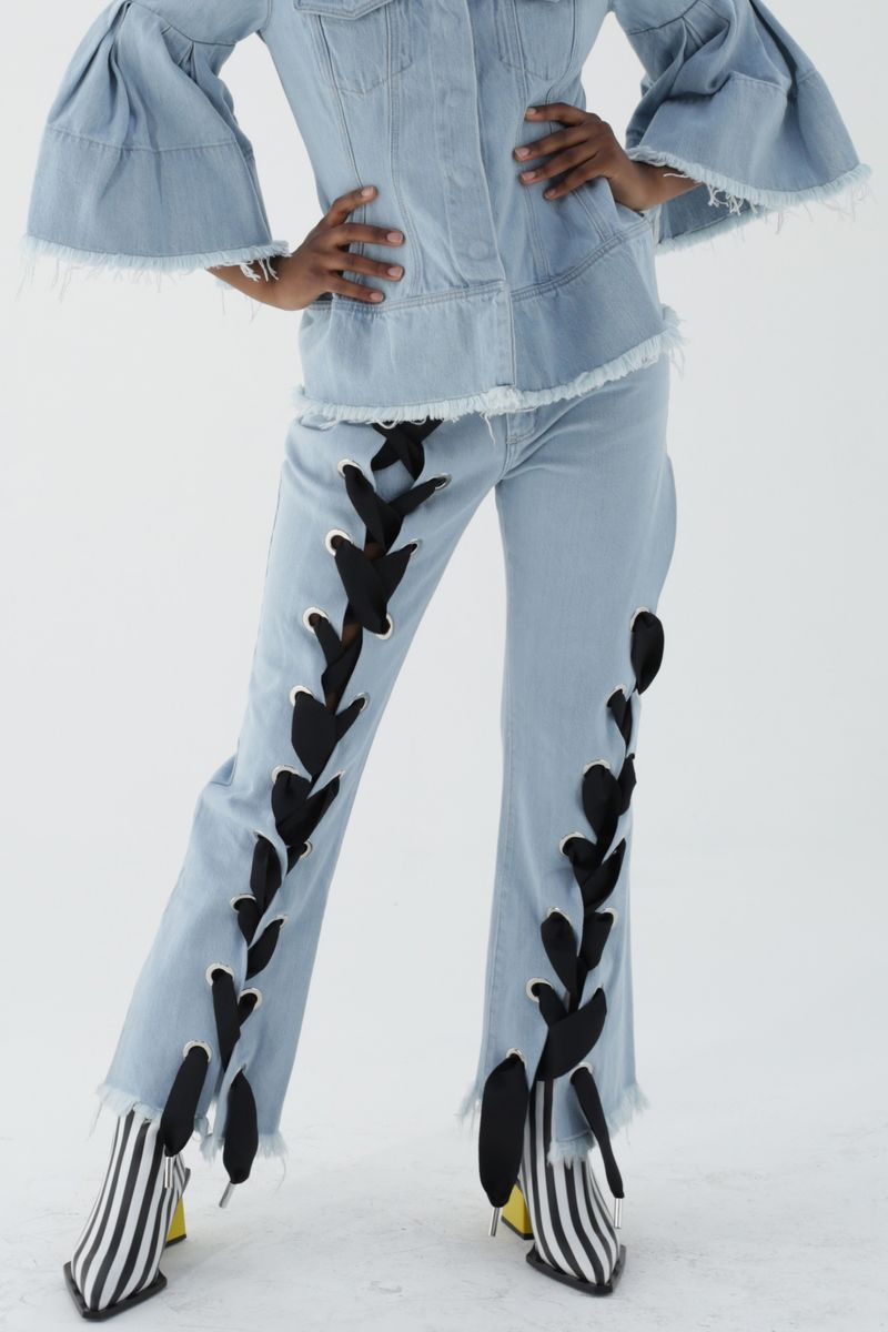 Oversized Lace-Up Trousers