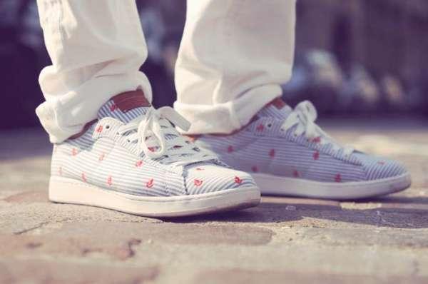 Classy Seersucker Sneakers