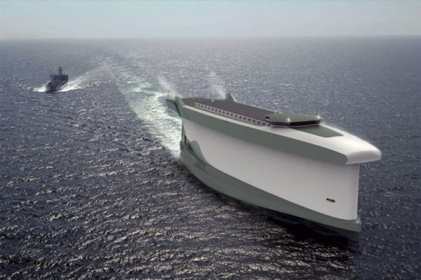 Conceptual Wind-Powered Cargo Ships