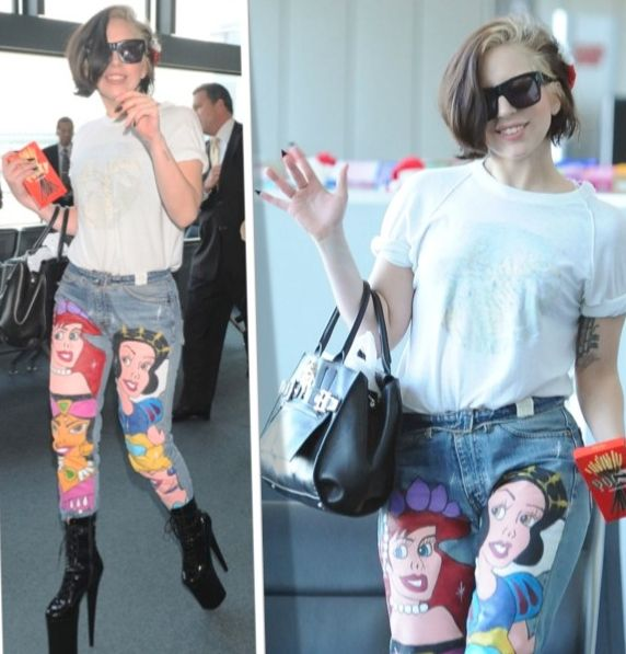 Iconic Princess-Painted Jeans