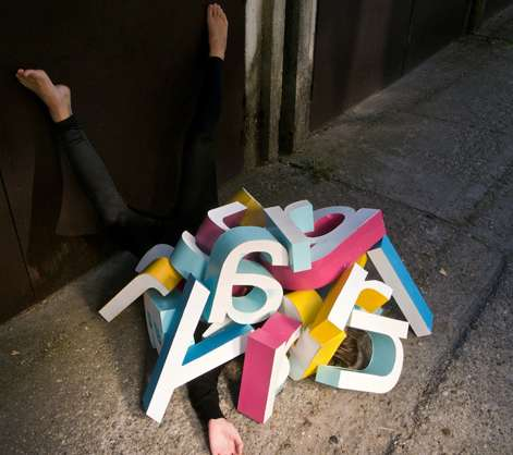 Crushed Alphabet Art