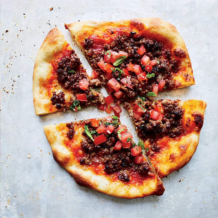 Zesty Lamb-Topped Pizzas