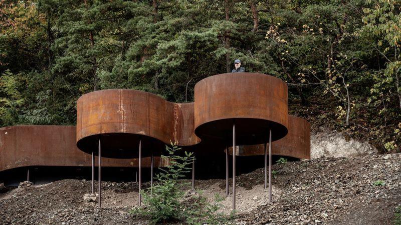 Corten Steel Landscape Accents