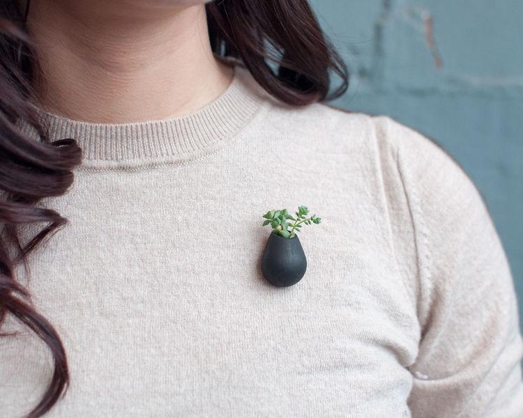 Wearable Planter Pins : lapel pin