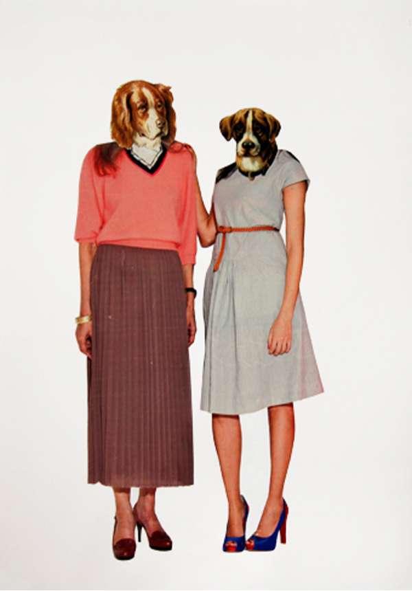 Animal Head Fashion Collages