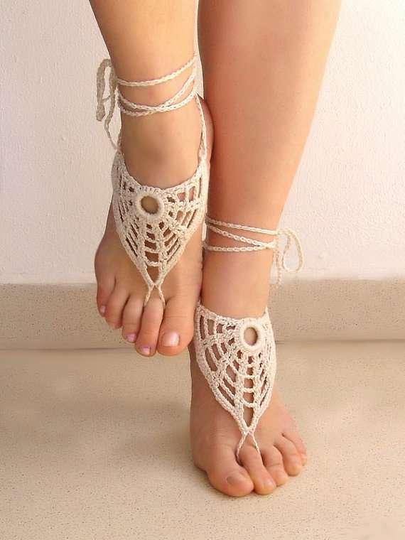 Dainty Doily Inspired Footwear Lasunka Crochet Ivory