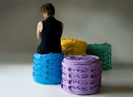 Stretched Rubber Stools