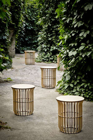 Sculptural Slat Furniture