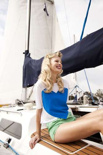 Feminine Sailing-Themed Photoshoots