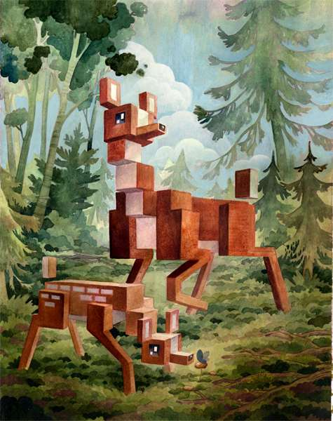 Pixelated Wilderness Illustrations