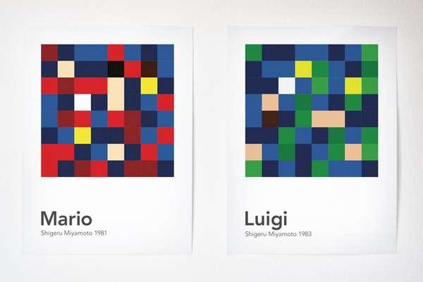 Jumbled Pixel Portraits