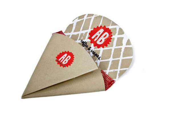 Origami-Inspired Crepe Cones