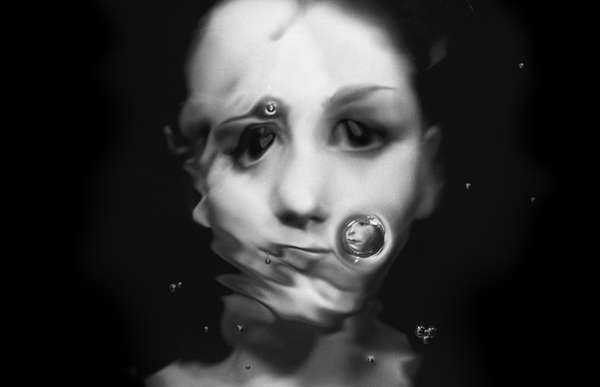 Submerged Face Self-Portraits