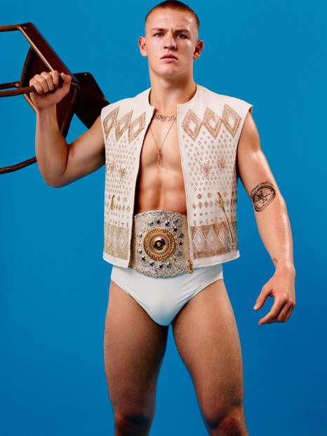 Flamboyant Wrestler Fashions