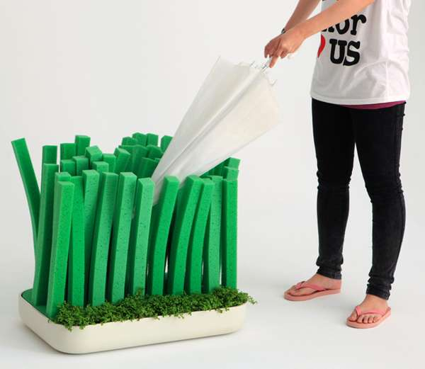 Grassy Umbrella Holders