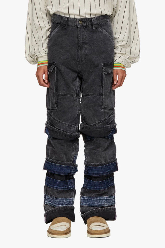 Heavily Set Layered Jeans
