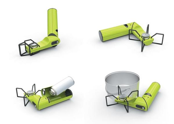 Compactly Configured Camping Stoves