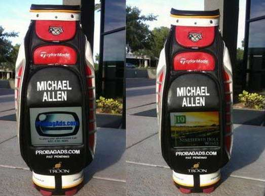 LCD Screen Golf Bags