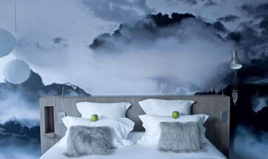 Skyscape Bedroom Walls: Cloudy Wallpaper at the Le Grand Balcon ...