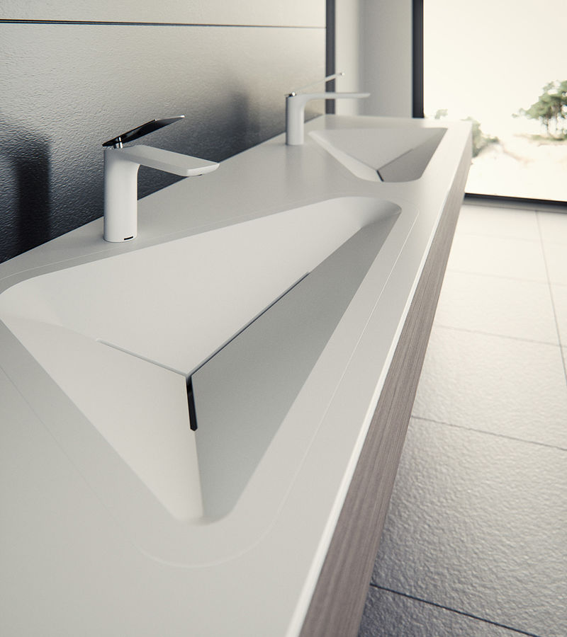 Functional Geometric Bathroom Fixtures