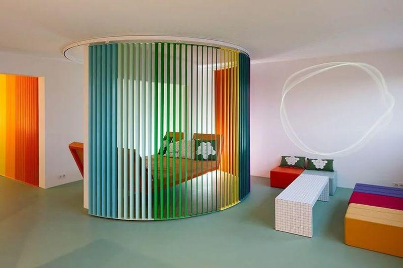 Chromatic Rainbow-Accented Apartments