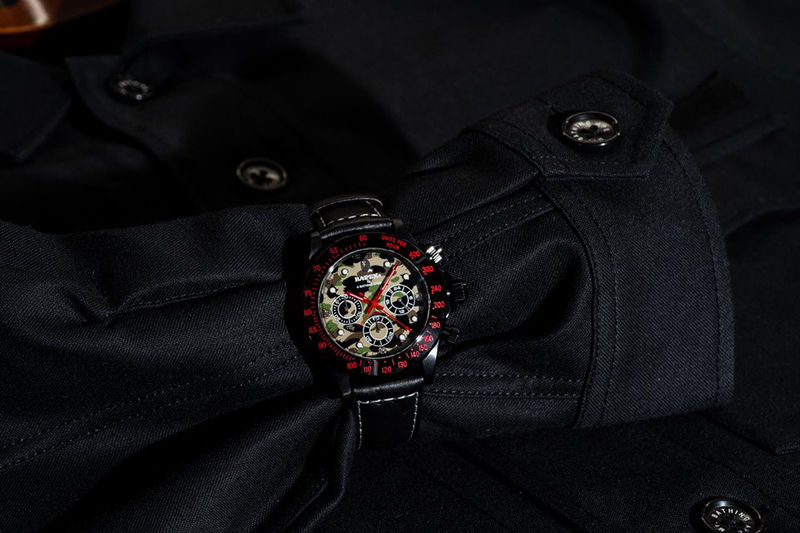 Subtle Camo-Embroidered Watch Straps