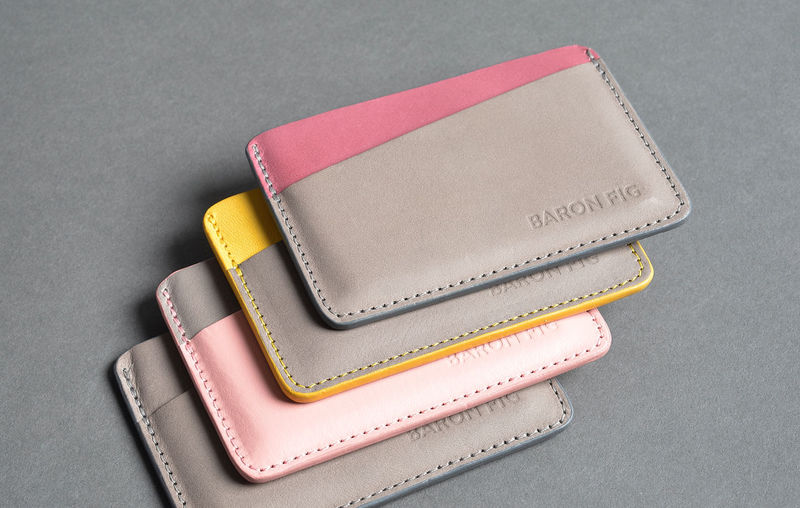 Minimalist Leather Card Sleeves