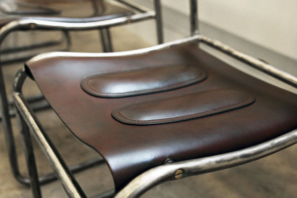 Form-Fitting Leather Chairs