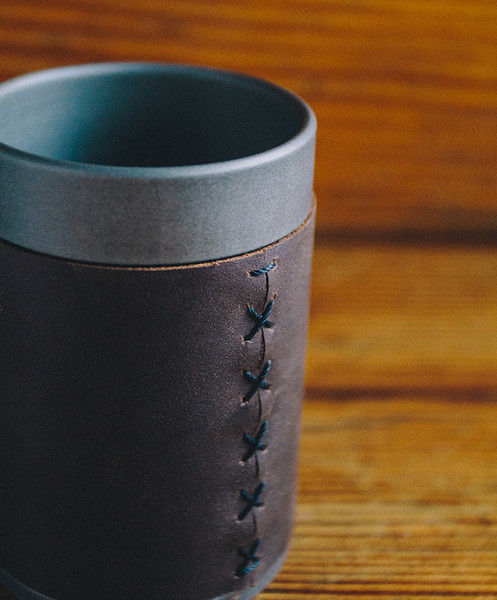 Luxurious Leather Tumblers