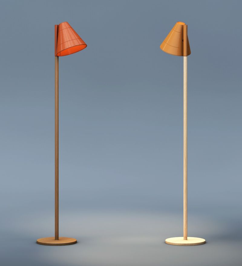 Texturized Leather Lamps