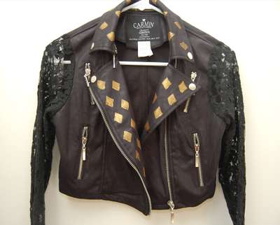 Diy Rocker Jacket Embellishments Leather Jacket Diy
