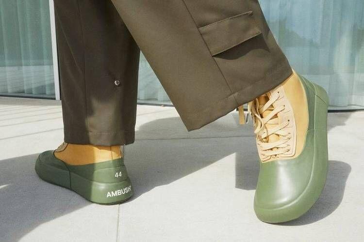 Mixed Material Hi-Top Footwear
