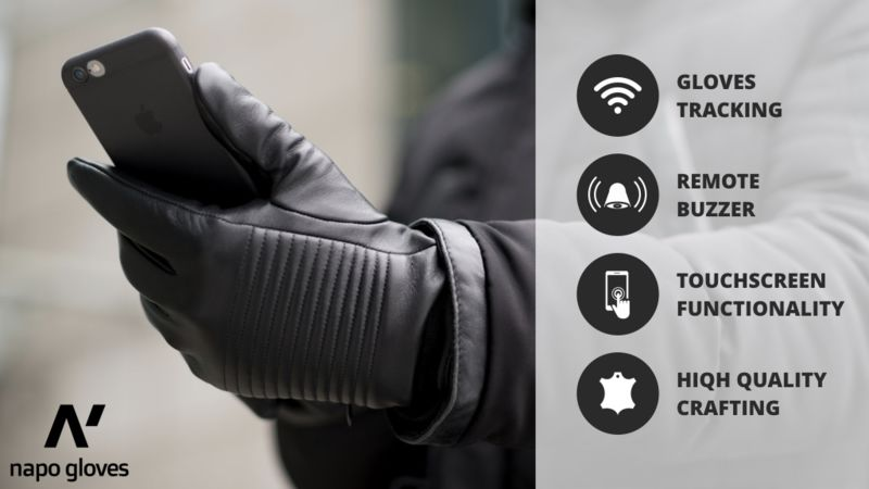 Smart Leather Gloves