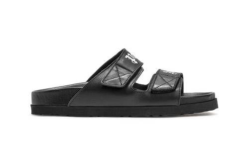 Sleek Black Leather Sandals