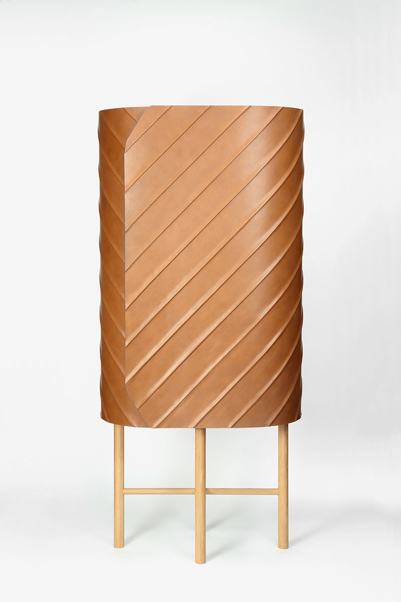 Contemporary Leather Cabinets