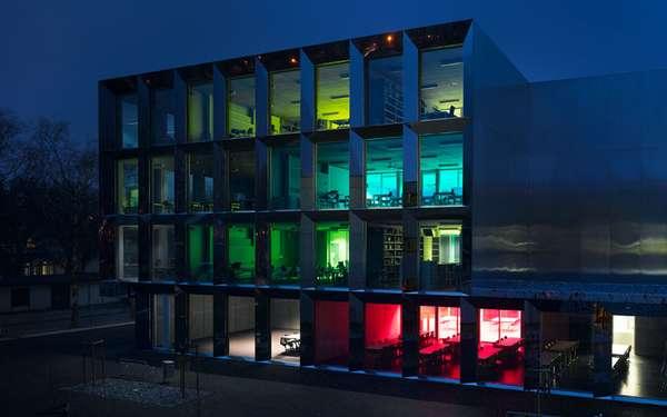 Reflective Rainbow Buildings