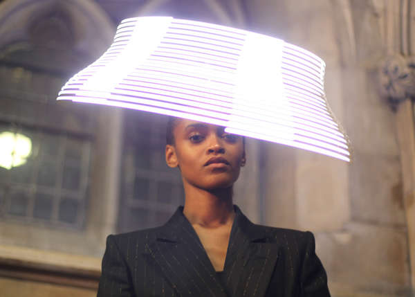 Avant-Garde Glowing Hats : LED hats by Moritz Waldemeyer