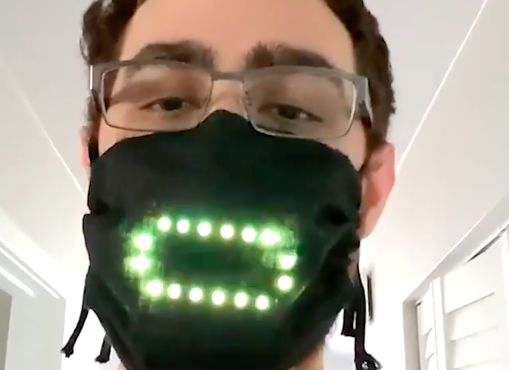 Voice-Activated LED Masks